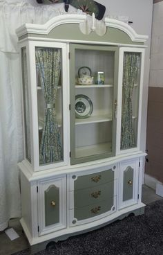 Attirant A Perfectly Repurposed China Cabinet. Take Out The Mirror Back And Glass  Shelves And Replace