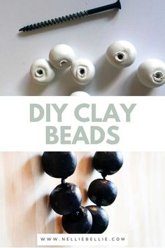 Homemade beads are so much easier than you might think! Use a homemade clay recipe or simply purchase ready made clay! A little ball forming, poking holes, and drying and you will have homemade clay beads to make into your favorite necklace! #DIY #Claybeads #Necklace #jewelry Make Clay Beads, How To Make Clay, Homemade Clay Recipe, Video Notes, Clay Food, Air Dry Clay, Diy Clay, Gumball, Fancy Pants
