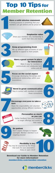 Top Ten Tips for Member Retention!
