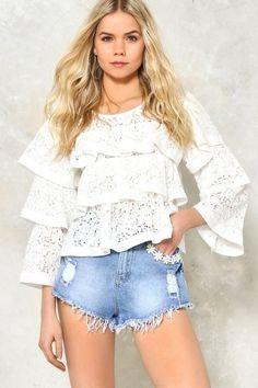 0e67658f152 Nasty Gal nastygal Fresh as a Daisy Distressed Cutoffs Shirt Pins, Fashion  Group, Fashion