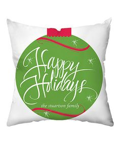 Look what I found on #zulily! Sparkling Ornament Personalized Throw Pillow #zulilyfinds