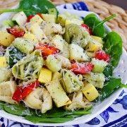 Tortellini Spinach Salad