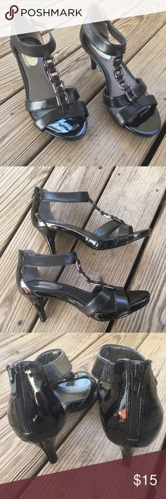 👠👠👠👠Alfani Step n Flex Heels👠👠👠👠 👠👠👠New never wore them , they have a soft insole with 3 inch heels , zippers on back. 👠👠👠 Alfani Shoes Heels