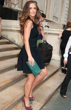 e898ff1a64 Minka Kelly in a sleeveless little black dress and matching pumps Minka  Kelly Style