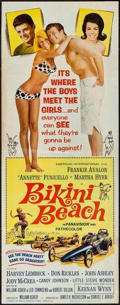 #Bikini #Beach Annette #funicello frankie #avalon 1964