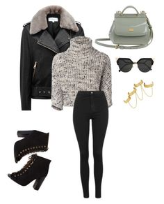 """""""Untitled #225"""" by kayliespaulding on Polyvore featuring Reiss, Brunello Cucinelli, Topshop, Dolce&Gabbana, Fendi and House of Harlow 1960"""