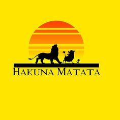 #HakunaMatata #hanuna #matata #lion #king #lionking #sunrise #pumba #timon #yellow #orange #design #buy #thirt #iphone #case #pillow #redbubble