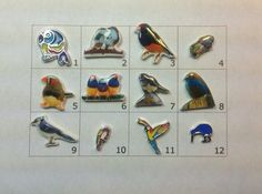 BIRDS floating charm pick one by JMLReflections on Etsy