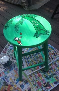 Turn boring stools into fun furniture with a little paint.