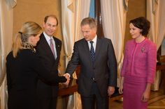 President Niinistö and Mrs Haukio met The Earl and Countess of Wessex