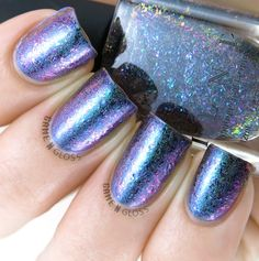 ILNP multichrome polishes (flakies too) - Hush with Paradox (H) ontop - IG @GameNGloss