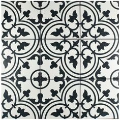 SomerTile 9.75 x 9.75-inch Art White Porcelain Floor and Wall Tile (Case of 16)