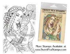 Mira & Orlando - Original Fairy Tangles™ designs by Norma J Burnell