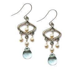 "Fez Moroccan inspired ""something blue"" drop earrings from Baubella by Sophia & Chloe $48"