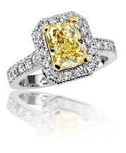 Canary diamond engagement ring | Whydeas