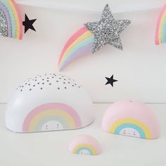 "100 Likes, 5 Comments - Ava's Dreams (@avasdreams) on Instagram: ""Rainbow projector lights, bath toys and mini decor and these fab star wall stickers are now…"""