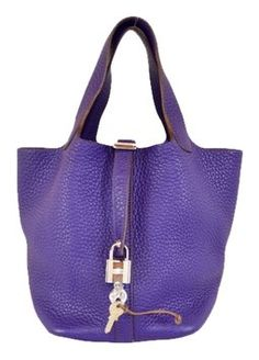 Hermes Leather Picotin Lock Pm Handbag Purple Satchel. Save 38% on the Hermes Leather Picotin Lock Pm Handbag Purple Satchel! This satchel is a top 10 member favorite on Tradesy. See how much you can save
