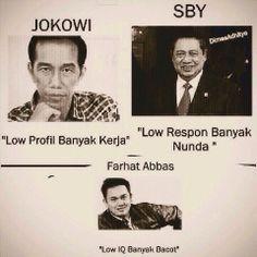 Jokowi vs SBY vs Farhat Abass...lol, so funny! ;-D