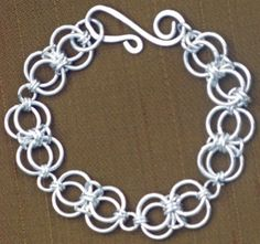 chainmaille sterling silver bracelet.