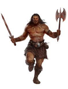 m Barbarian Sword Battle Axe wilderness ArtStation - Illustrations for Conan RPG, Antonio J. Fantasy Warrior, Fantasy Rpg, Medieval Fantasy, Dnd Characters, Fantasy Characters, Paladin, Character Concept, Character Art, Concept Art