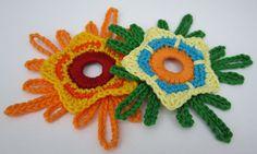 Die sechste gehäkelte Paradiesblume - sixth crocheted paradise flower...free pattern!