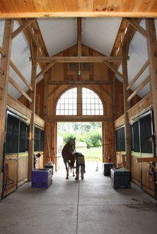 Horse stables another of my jobs