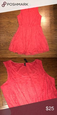 NWT Coral Stretch Lace Dress! 2X NWT Coral Stretch Lace Dress! Super Flattering! Perfect dressed down with a jean jacket or dresses up with a pair of heels! 2X (but will fit a 3X as well) Dresses