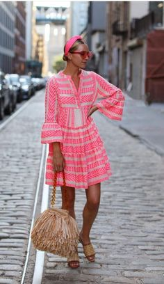 Fashion V-Neck Print Vacation Casual Mini Dress Runway Fashion, Boho Fashion, Fashion Outfits, Womens Fashion, Fashion Design, Knit Dress, Dress Up, Belle Silhouette, Bohostyle