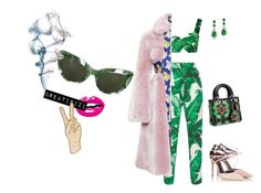 """""""green vibe"""" by creatipizi ❤ liked on Polyvore featuring Dolce&Gabbana, A.W.A.K.E., Fratelli Karida, November, Bling Jewelry and Lucky Brand"""