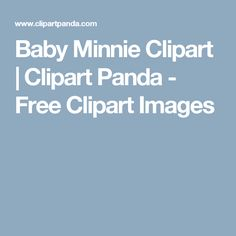 Baby Minnie Clipart | Clipart Panda - Free Clipart Images