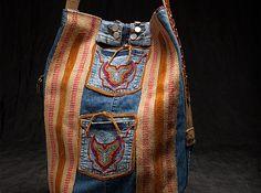 Embellished Denim Bucket Bag