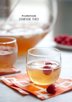 Makin' this tonight. Oh yeah! Champagne Punch on foodiecrush.com