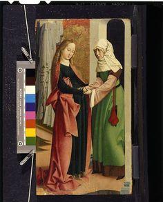 Attributed to Rueland Frueauf the Elder   German (c. 1445 - 1507)   The Visitation, c. 1495