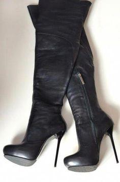 16bf2d2ef2c Du Monde overknee stiletto high heels platform thigh high boots EU37
