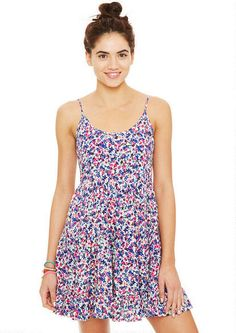 Babydoll Dress in Cream Floral - Dresses - New Arrivals - dELiA*s <3. So cute for summer!