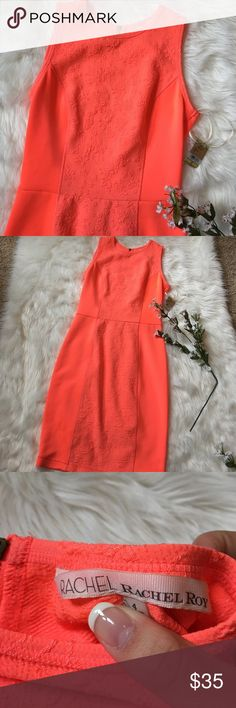 Rachel Rachel Roy coral body con dress NWT Perfect condition, new with tags, very comfortable, length is 36 inches, bust is 15 inches RACHEL Rachel Roy Dresses Midi