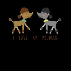 A cute illustration for all dog lovers, specially people who loves their poodles!