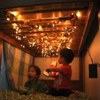 Fort With Fairy Lights