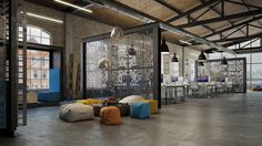 OFFICE DESIGN - Loft IT office interior design