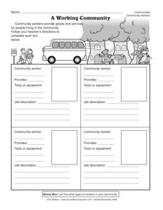 Results for community helpers   worksheet   Guest - The Mailbox ...