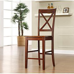 @Overstock - Add a contemporary edge to your home decor with this counter height barstool