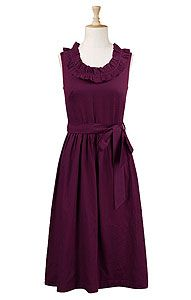 $50.  It comes sleeveless or with sleeves but only comes in eggplant.  I don't know if you want bridesmaids in matching dresses or if you are going to tell them to just find something.  If I am on my own I think I'm getting this.