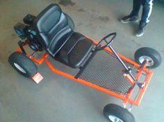 Homemade go-kart needs a little more of a frame