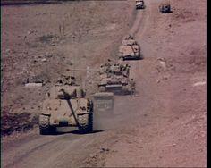 Armoured vehicles in footage taken during the Yom Kippur War: http://www.britishpathe.com/video/egypt-israeli-war