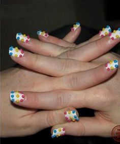 Katy Perry inspired nail art!!!!! Once i get the acrylic powder, im sooo doing this!!!