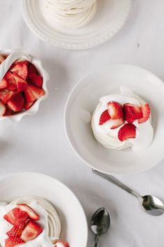 Vegan Meringue Nests with Strawberries & Cream