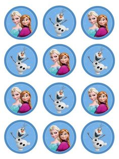 Free Frozen Party Ausdrucke – One Charming Day - Party Ideen Frozen Cupcake Toppers, Frozen Cupcakes, Frozen Birthday Theme, Frozen Themed Birthday Party, Birthday Cupcakes, Birthday Parties, Deco Disney, Frozen Free, Frozen Party Decorations