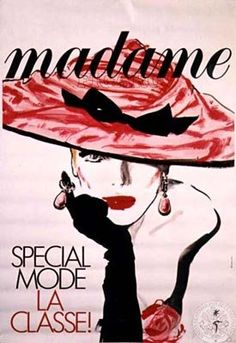 By René Gruau, 1 9 8 7, Figaro Madame.