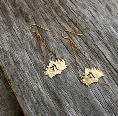 Lotus earrings / anahata heart chakra brass by OrganicAlchemist