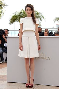 Astrid Berges-Frisbey in Chanel- words cant express how much i love this